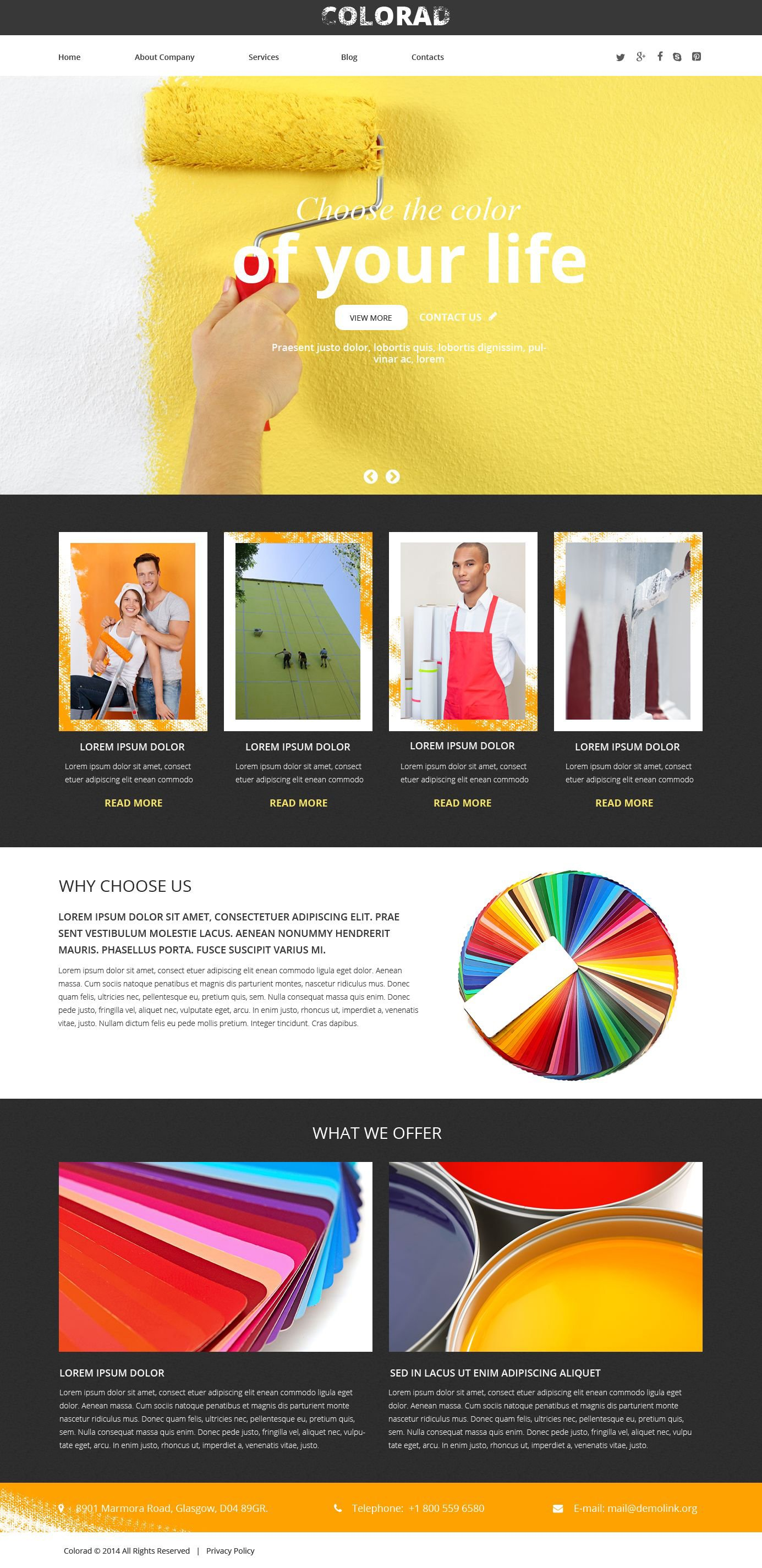 Interior Design Responsive Website Template - screenshot