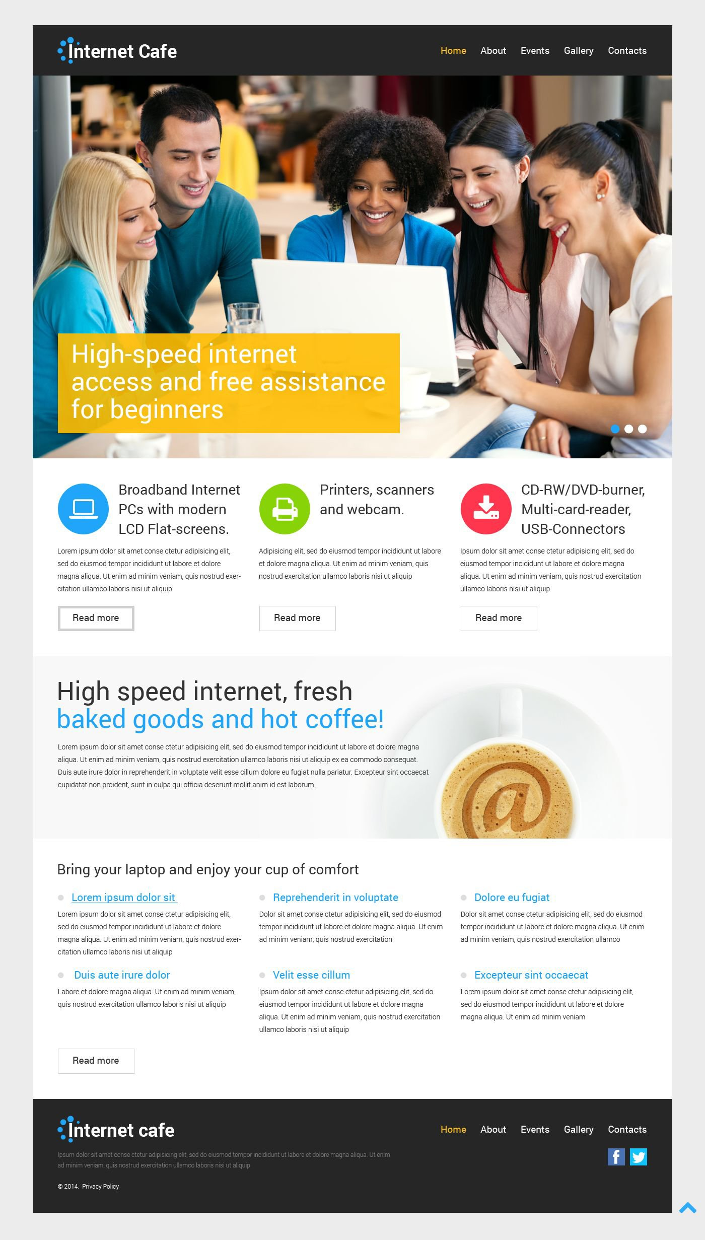 Internet Cafe Responsive WordPress Theme