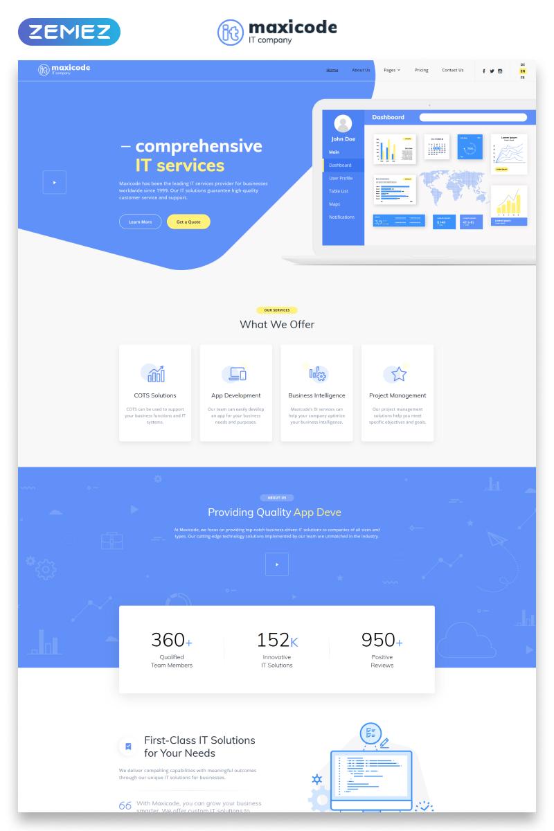 Information Technology Website Template