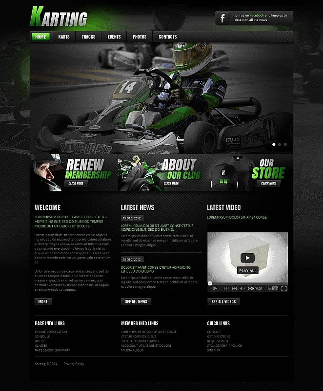 Karting Moto CMS HTML Template New Screenshots BIG