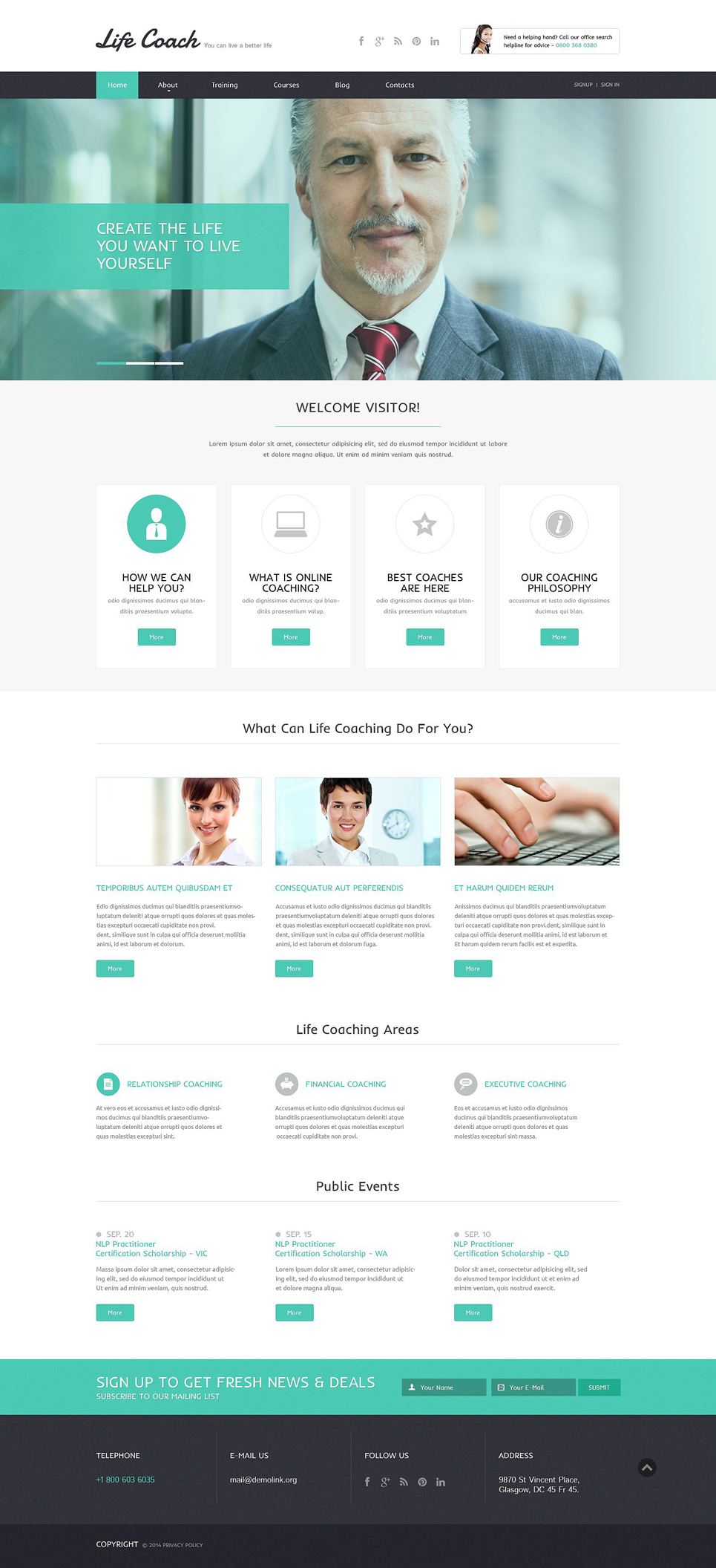 life coach responsive website template 51743. Black Bedroom Furniture Sets. Home Design Ideas