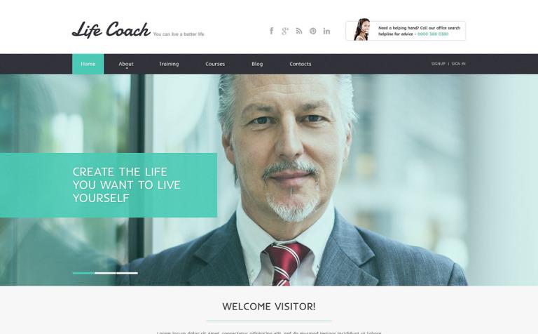 Life Coach Responsive Website Template New Screenshots