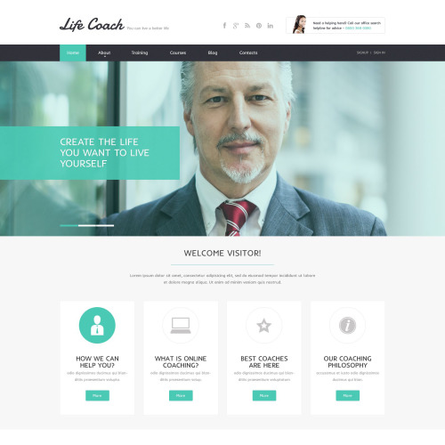 Life Coach - Responsive Website Template