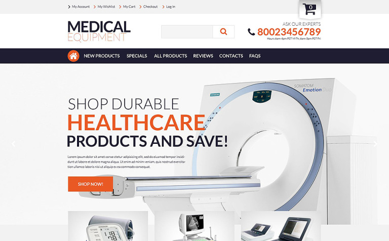 Medical Supplies ZenCart Template