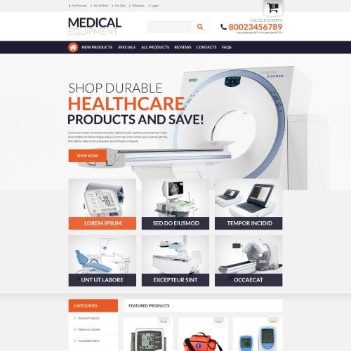 Medical Equipment - HTML5 ZenCart Medical Shop Template