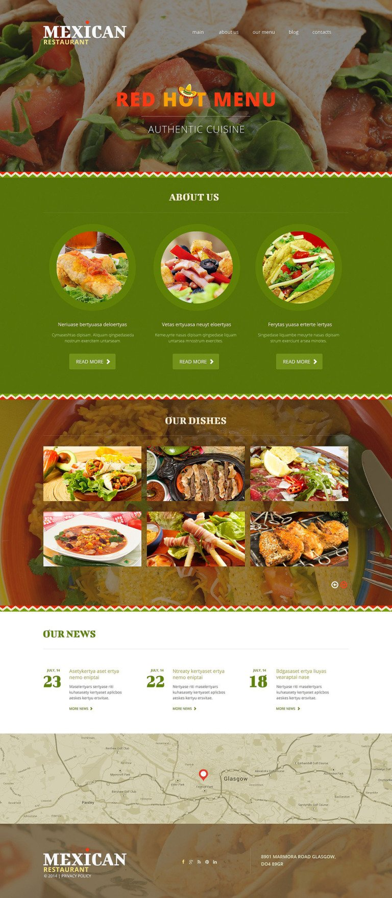 Mexican Restaurant Joomla Template New Screenshots BIG