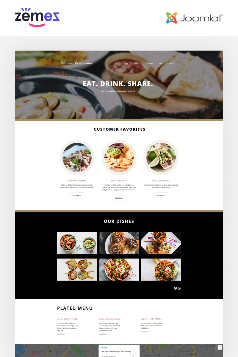 Mexican Restaurant Joomla Template 51744