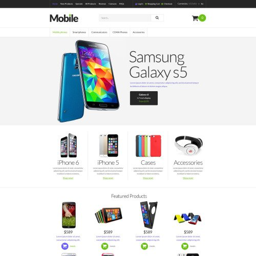 Mobile - HTML5 ZenCart Mobile Shop Template