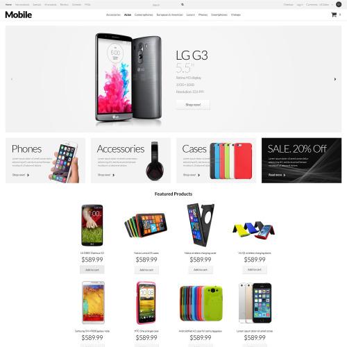 Mobile - HTML5 ZenCart Template