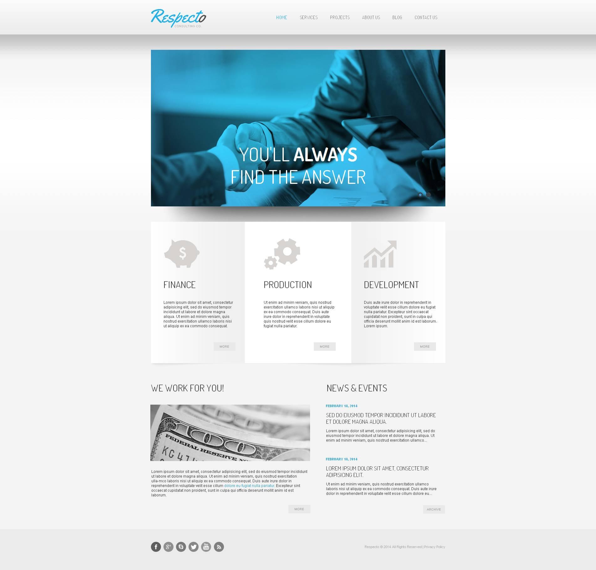 Modèle Moto CMS HTML Premium pour sites de consultation #51715 - screenshot