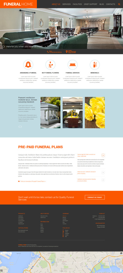 Funeral Services Responsive Template Siti Web