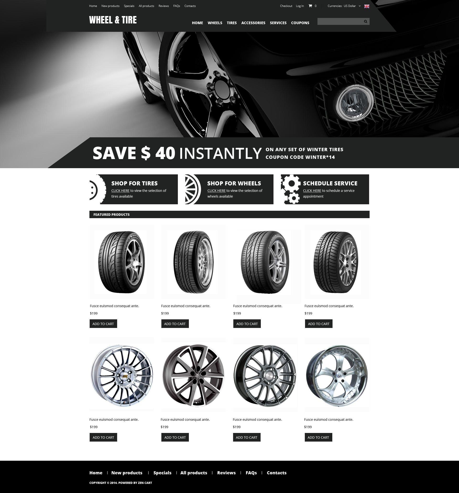 Онлайн-магазин по продаже колес и шин №51735