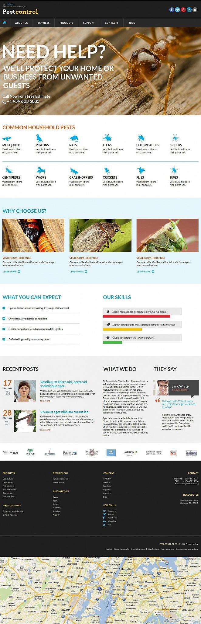 Pest Control Moto CMS HTML Template New Screenshots BIG
