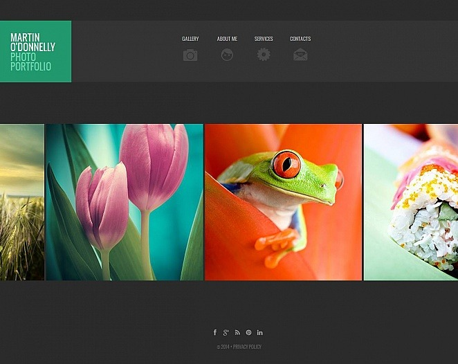 Photographer Portfolio Moto CMS HTML Template New Screenshots BIG