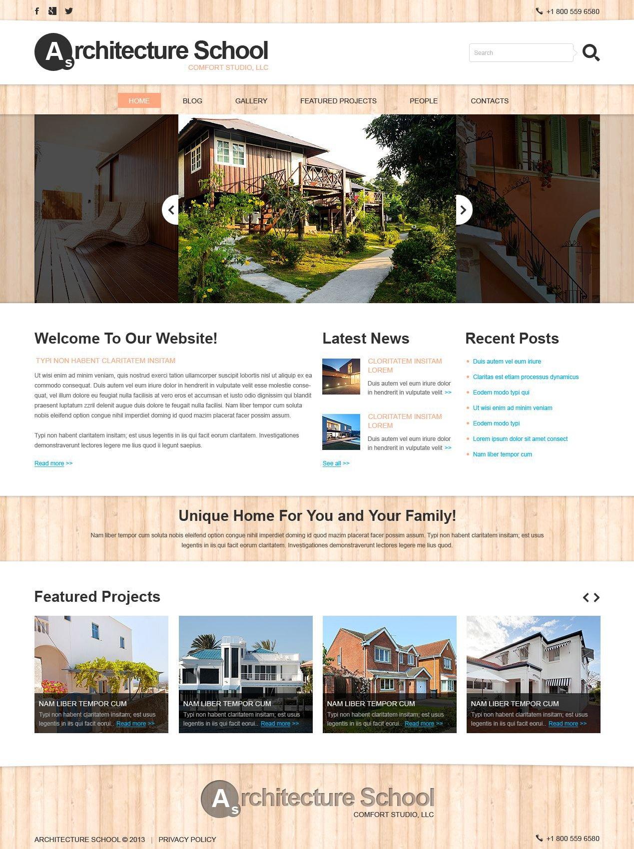 Plantilla Joomla Responsive para Sitio de Arquitectura #51756 - captura de pantalla