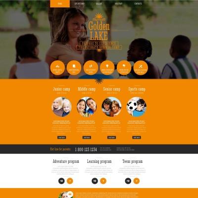 Plantilla Moto CMS HTML #51707 para Sitio de  para Sitio de Campamentos de verano