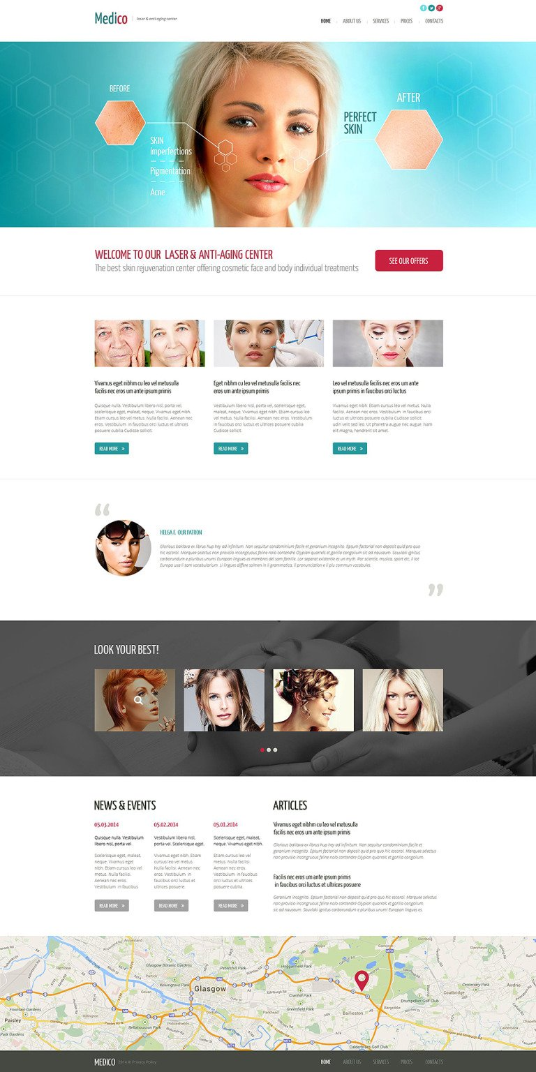 Plastic Surgery Responsive Website Template New Screenshots BIG