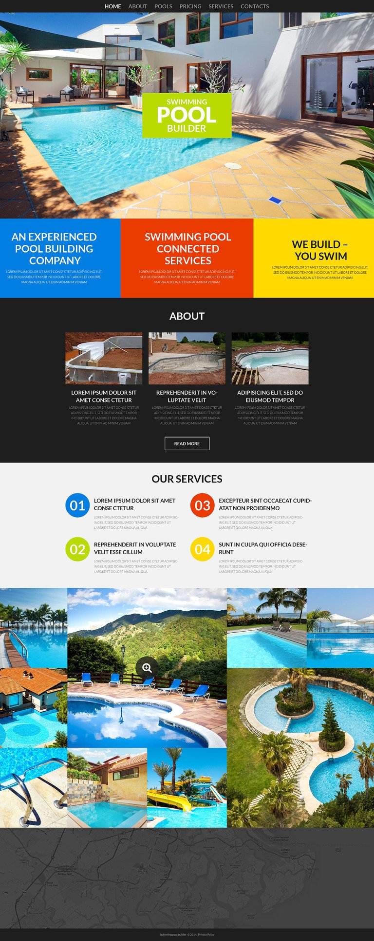 Pool Cleaning Responsive Website Template New Screenshots BIG