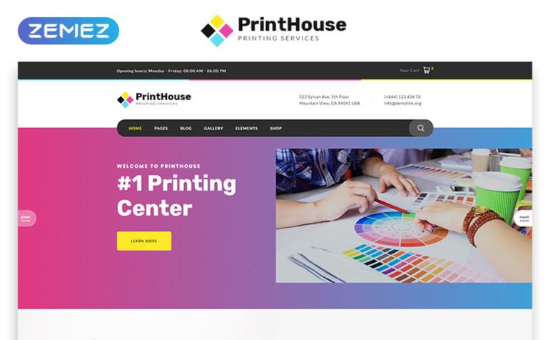 print shop responsive website template 51780