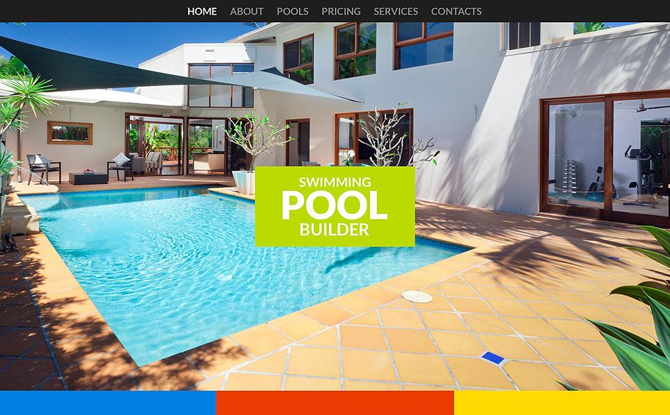 Responsive Website Vorlage für Schwimmbad  New Screenshots BIG