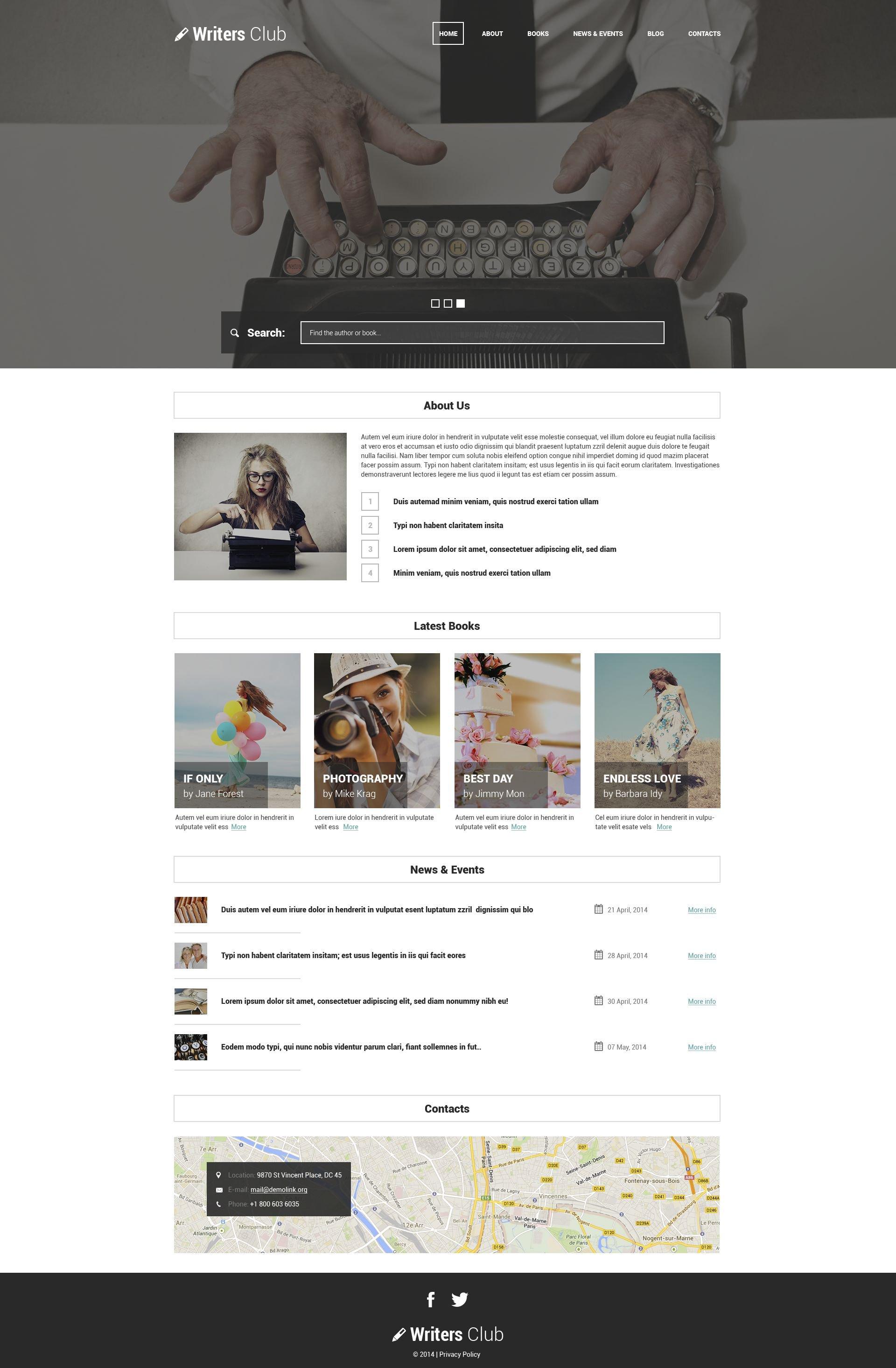 WordPress Theme #51772 für Bücher