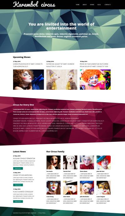 Circus Responsive WordPress Sablon
