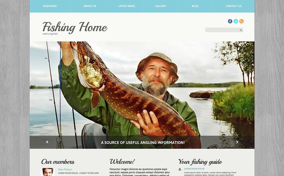 Reszponzív Halászat Joomla sablon New Screenshots BIG