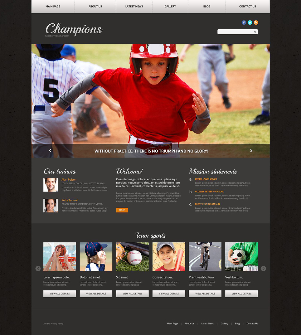 sports news responsive joomla template 51762