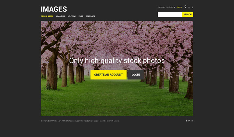 Stock Photo VirtueMart Template New Screenshots BIG