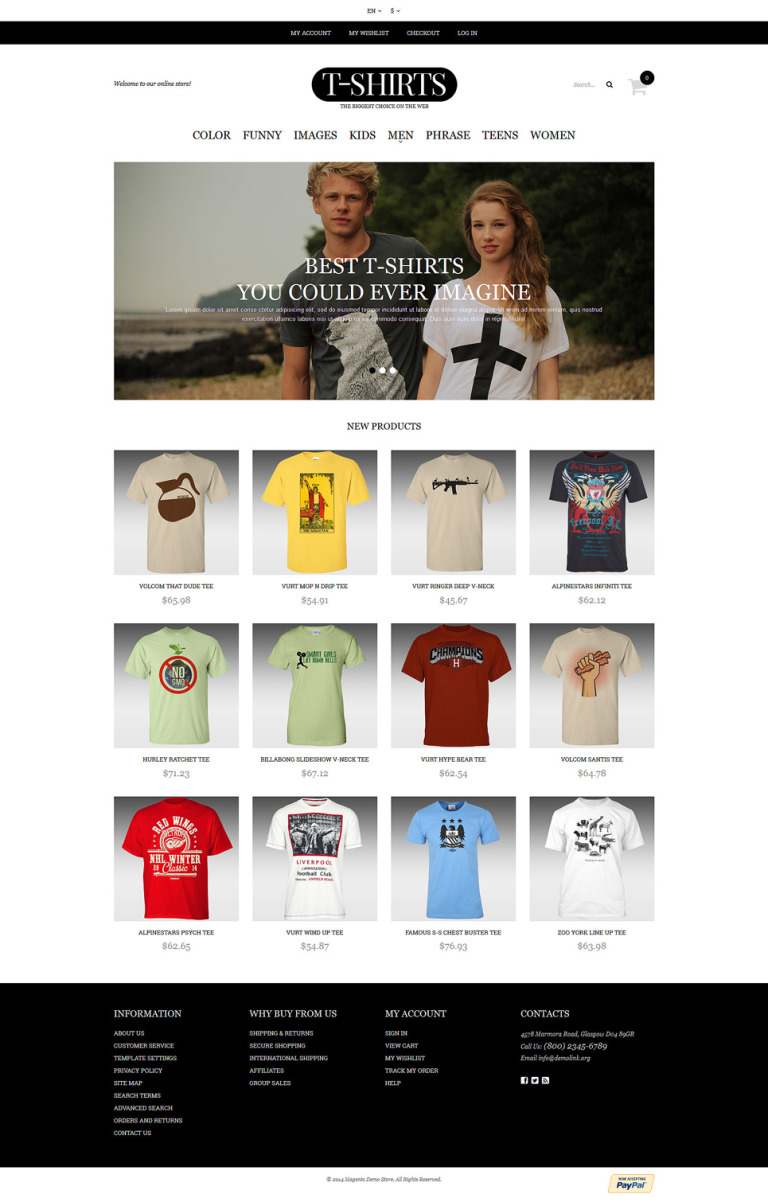 T-shirt Shop Responsive Magento Theme New Screenshots BIG