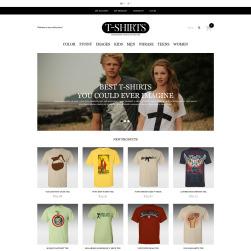 responsive t shirts store magento theme 46173