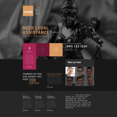 Tema de WordPress #51769 para Sitio de Bufetes de abogados