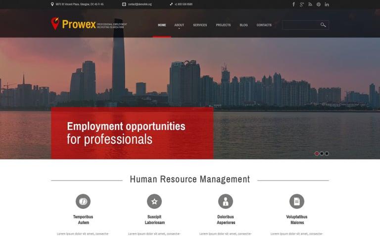 Tema de WordPress #51738 para Sitio de Portal de Empleo