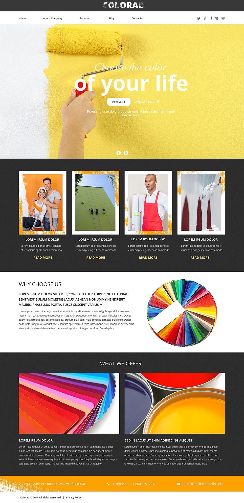 Template siti web 51754 per un sito di design di interni for Siti design interni
