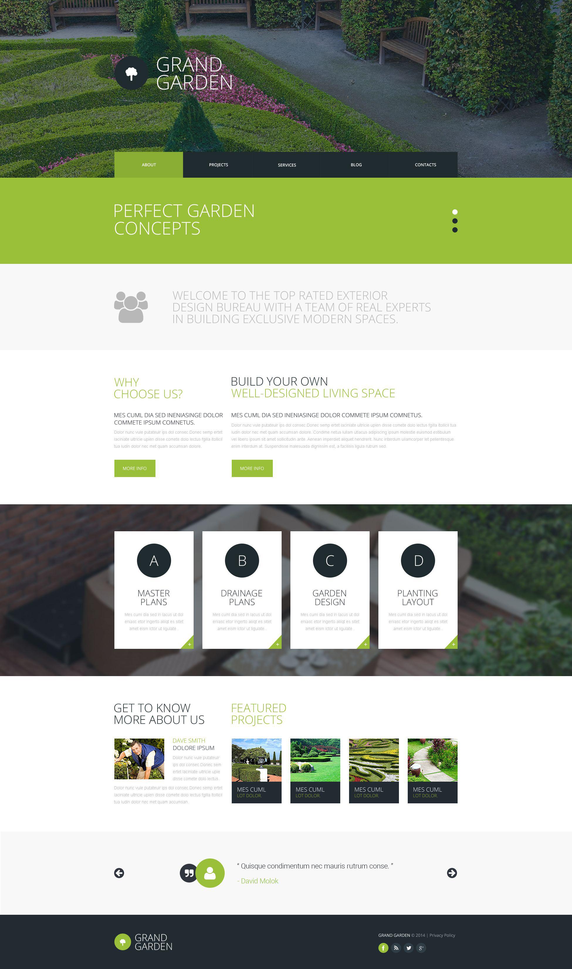 Template siti web 51784 per un sito di architettura del for Siti di interior design