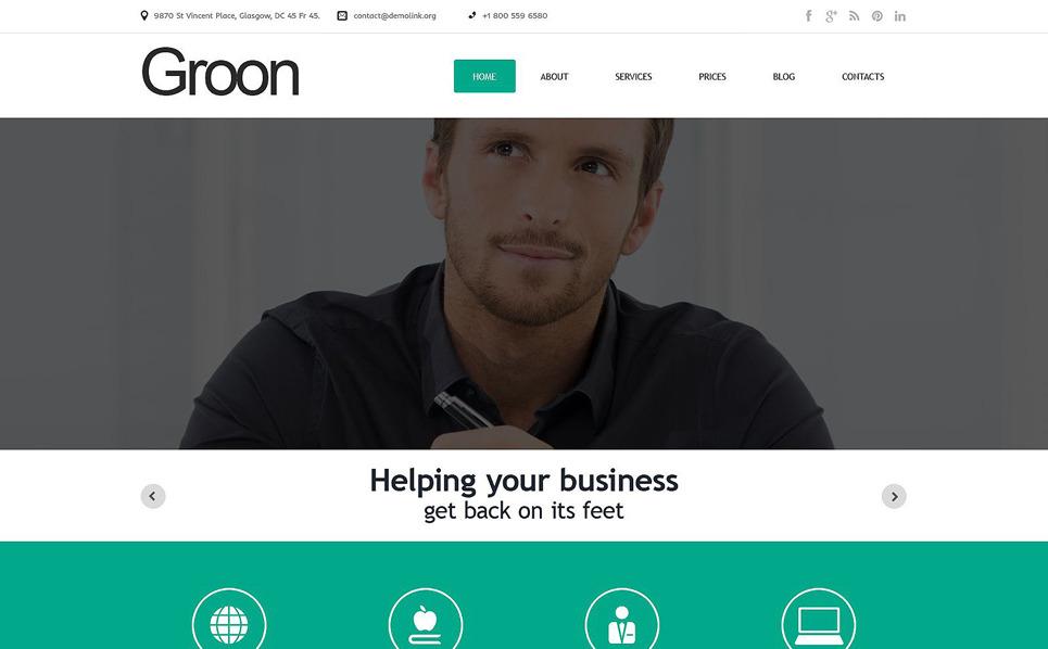 Template WordPress Responsive #51736 per Un Sito di Business e Servizi New Screenshots BIG