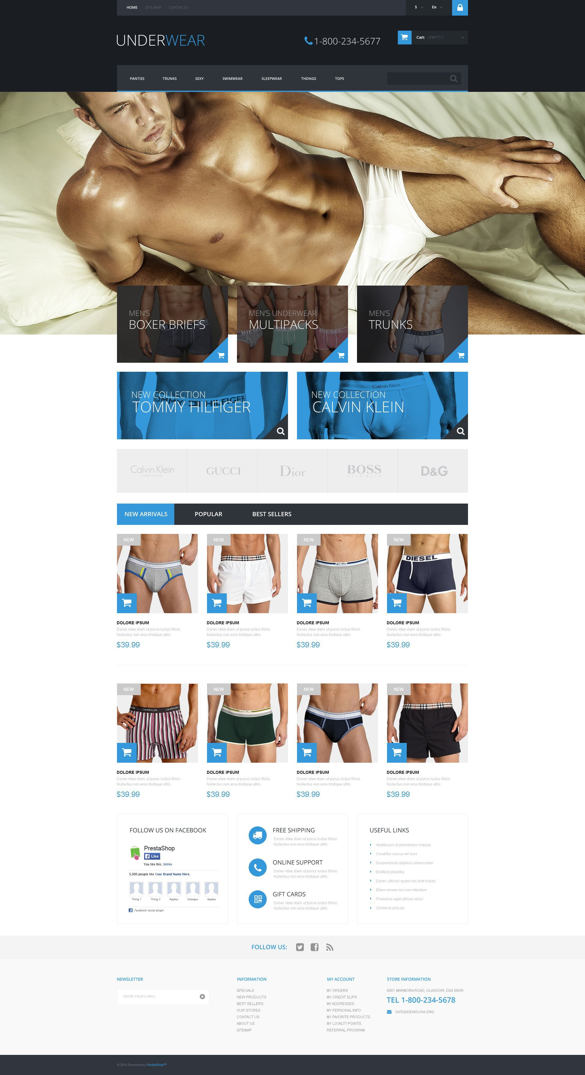 Underwear for Men PrestaShop Theme