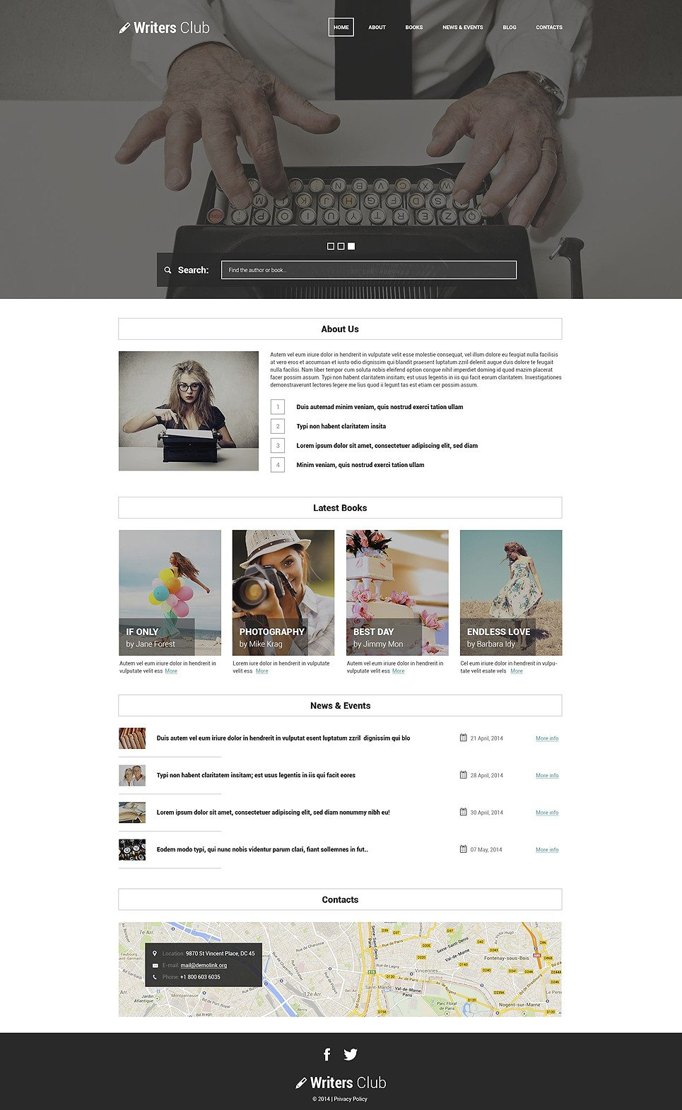 Writing Spot WordPress Theme New Screenshots BIG