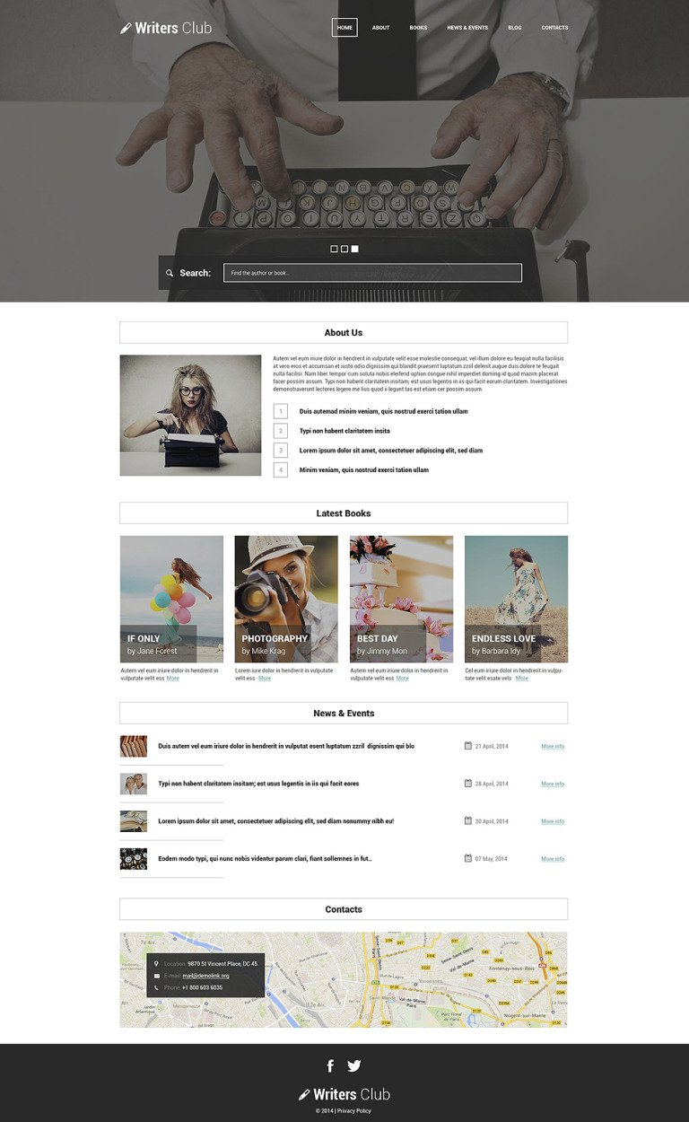 Writing Spot WordPress Theme New Screenshots BIG