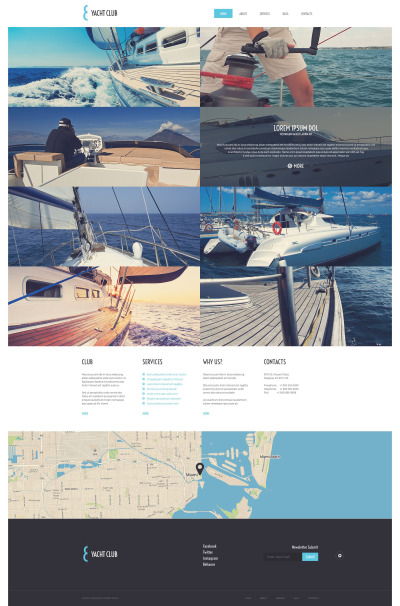 Yacht Vacation WordPress Theme #51739