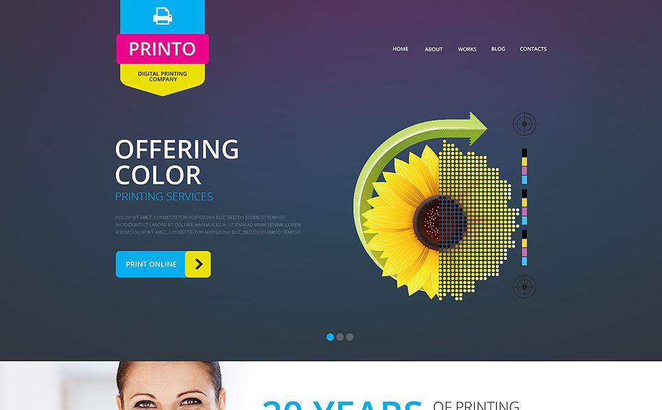 Responzivní Šablona webových stránek na téma Prodejna polygrafie New Screenshots BIG