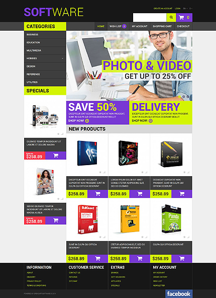 ADOBE Photoshop Template 51807 Home Page Screenshot