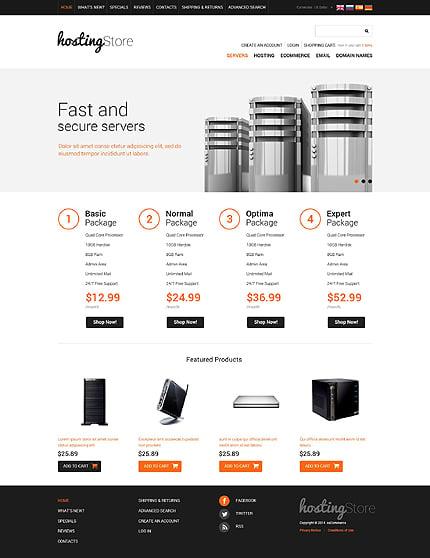 osCommerce Template 51812 Main Page Screenshot