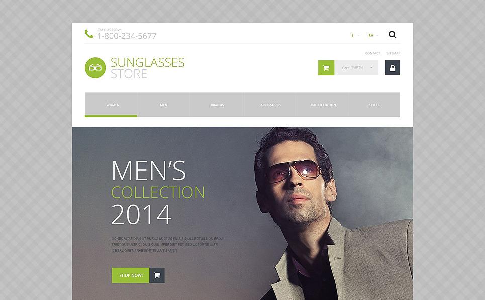 Responzivní PrestaShop motiv na téma Brýle New Screenshots BIG