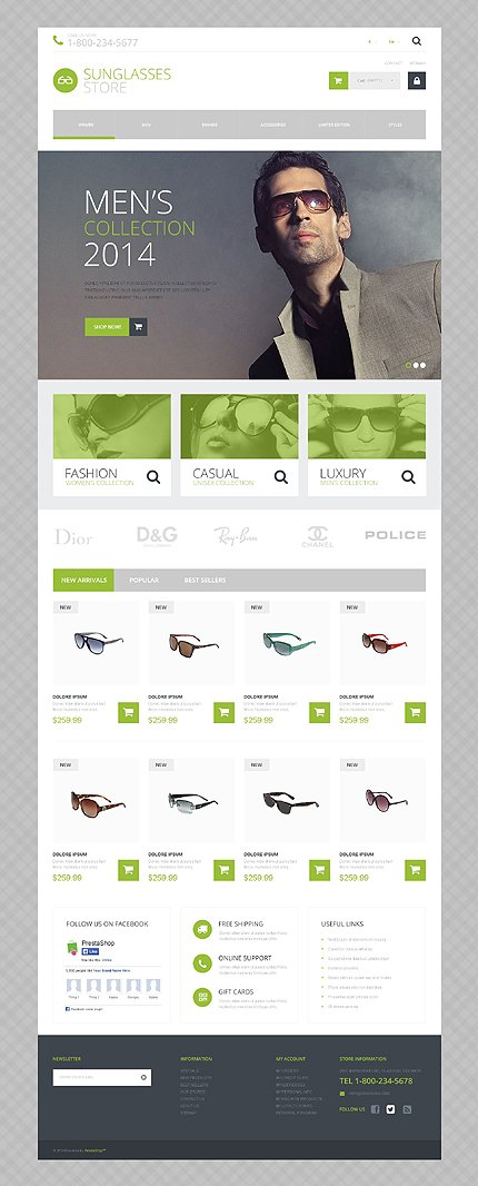 ADOBE Photoshop Template 51815 Home Page Screenshot