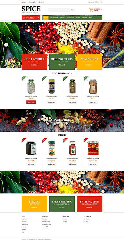 ZenCart Template 51820 Main Page Screenshot
