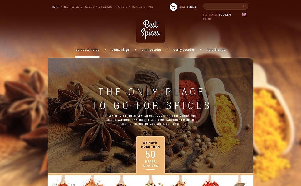 Plantilla ZenCart #51821 para Sitio de Tienda de especias New Screenshots BIG