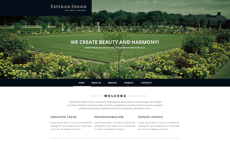 Responsive Website template over Exterieur-design  New Screenshots BIG