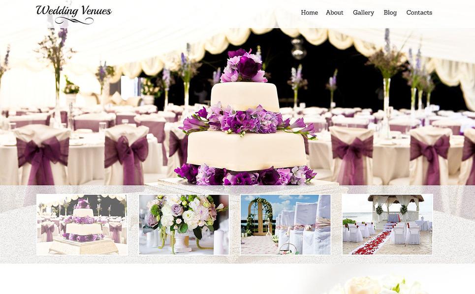 Responzivní Šablona webových stránek na téma Místo svatby New Screenshots BIG