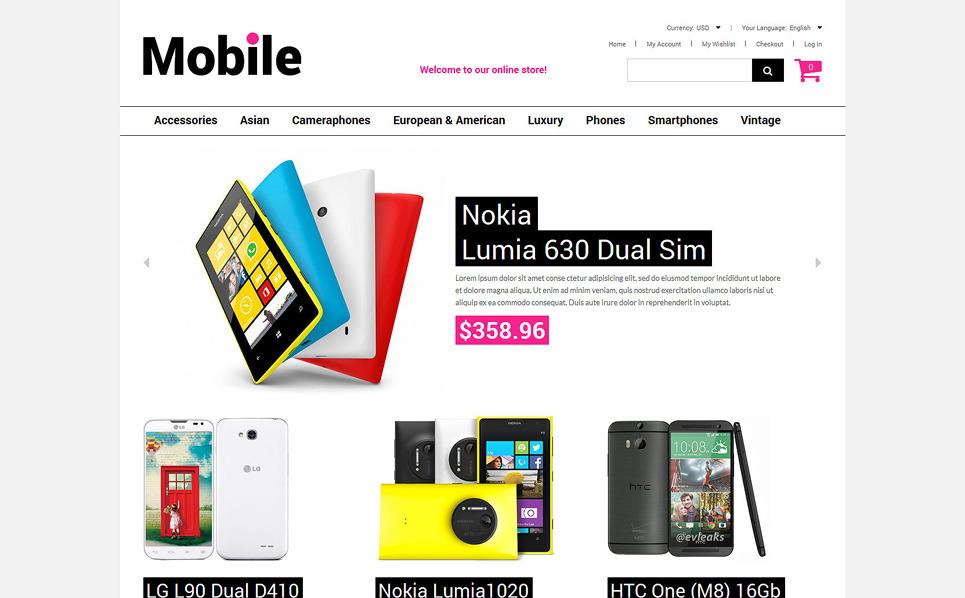 Responzivní Magento motiv na téma Prodejna mobilních telefonů New Screenshots BIG